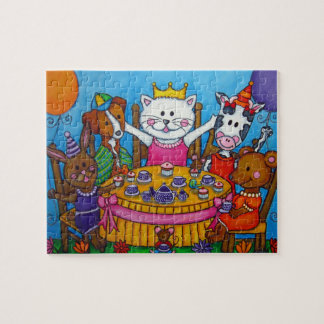The Little Tea Party Puzzle by Lisa Lorenz