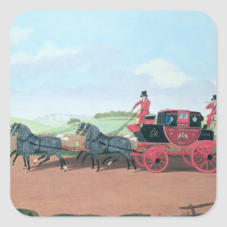 The Liverpool and London Royal Mail Coach, 1812 Square Sticker