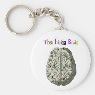 The Living Brain Basic Round Button Keychain