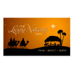 The Living Nativity gift tag Business Cards