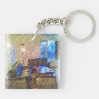 The Living Room Acrylic Key Chains