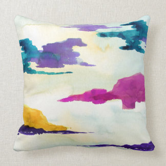The Loch Scottish Abstract Watercolour Cushion