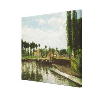 The Lock at Pontoise Canvas Print