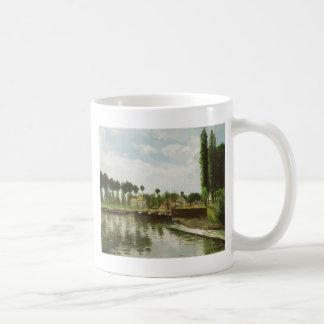 The Lock at Pontoise Coffee Mug
