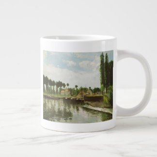 The Lock at Pontoise Large Coffee Mug
