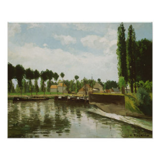 The Lock at Pontoise Poster