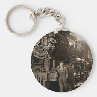 The Locomotive Ladies of World War I Basic Round Button Keychain
