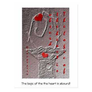 The logic of the heart is absurd postcard
