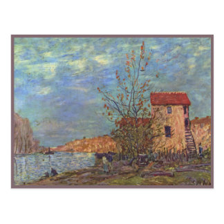 The Loing at Moret postcard