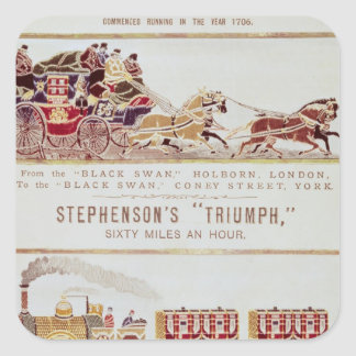 The 'London and York' Royal Mail Coach Square Sticker