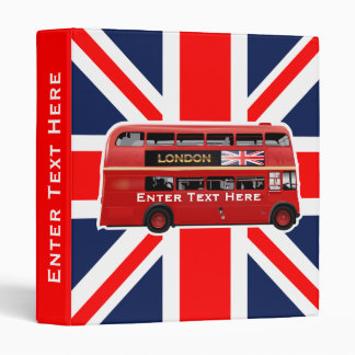 The London Bus 3 Ring Binder