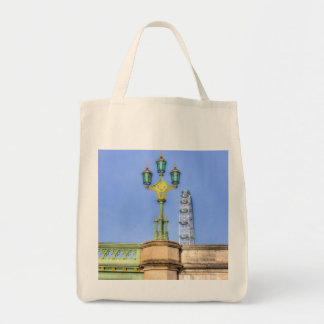 The London Eye And Westminster Bridge Grocery Tote Bag