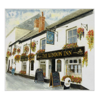 'The London Inn (Padstow)' Poster