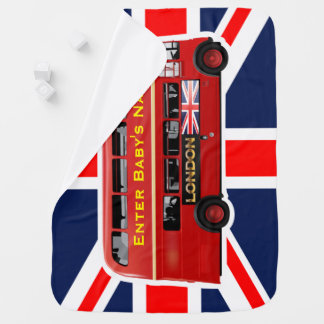 The London Red Bus Baby Blankets