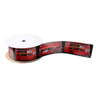 The London Red Buses Satin Ribbon