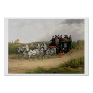 The London to Brighton Stage Coach Poster