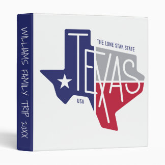 The Lone Star State 3 Ring Binder