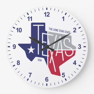 The Lone Star State Large Clock