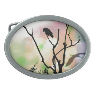 The Lonely Crow Oval Belt Buckles
