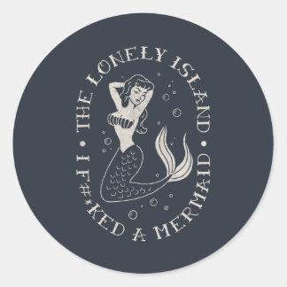 The Lonely Island Mermaid Round Sticker
