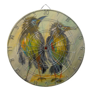 The long-awaited rain for the crows dartboard