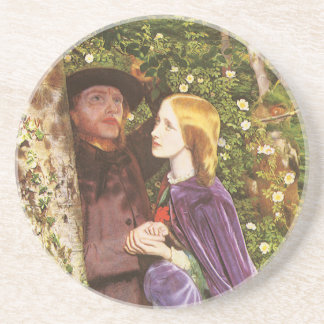 The Long Engagement by Arthur Hughes Beverage Coaster