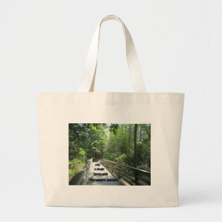 The longest journey starts with a single step. jumbo tote bag