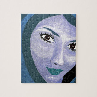 THE LOOK ( blue ) Jigsaw Puzzle