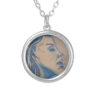 The Look Blue Series by Michael David Silver Plated Necklace
