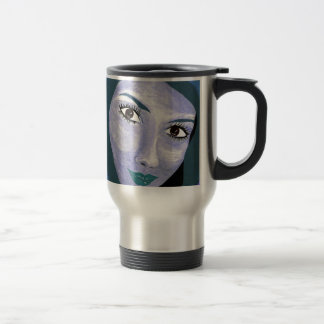 THE LOOK ( blue ) Travel Mug