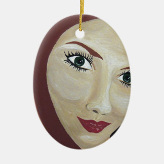 THE LOOK CERAMIC OVAL ORNAMENT
