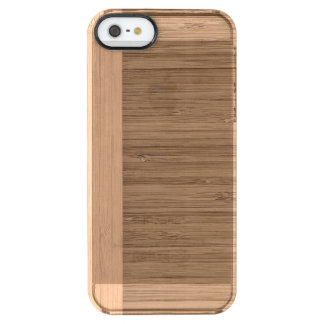 The Look of  Bamboo Border Wood Grain in Almond Clear iPhone SE/5/5s Case