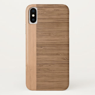 The Look of  Bamboo Border Wood Grain in Almond iPhone X Case