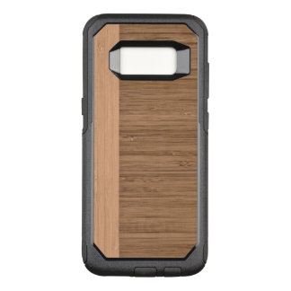 The Look of  Bamboo Border Wood Grain in Almond OtterBox Commuter Samsung Galaxy S8 Case