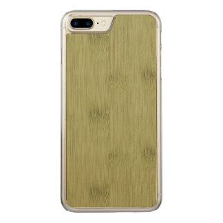 The Look of Bamboo in Olive Moss Green Wood Grain Carved iPhone 7 Plus Case