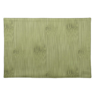 The Look of Bamboo in Olive Moss Green Wood Grain Placemat