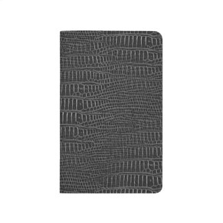 The Look of Black Realistic Alligator Skin Journals