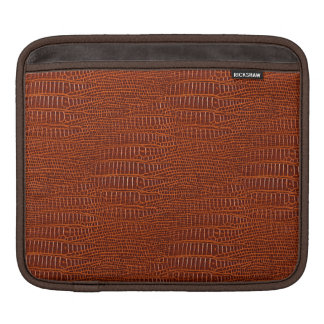 The Look of Brown Realistic Alligator Skin Sleeve For iPads