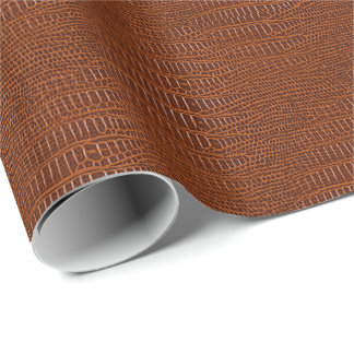 The Look of Brown Realistic Alligator Skin Wrapping Paper