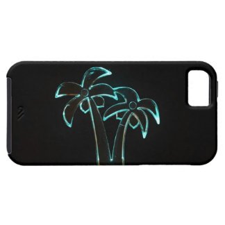 The Look of Neon Lit Up Tropical Palm Trees Case For The iPhone 5