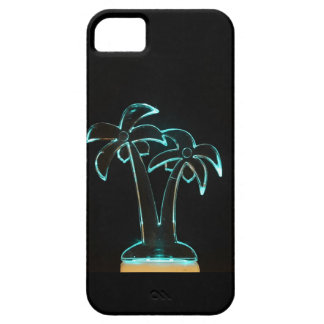 The Look of Neon Lit Up Tropical Palm Trees iPhone 5 Cover