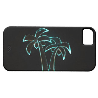 The Look of Neon Lit Up Tropical Palm Trees iPhone 5 Covers