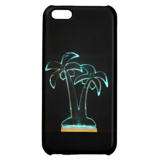 The Look of Neon Lit Up Tropical Palm Trees iPhone 5C Cover