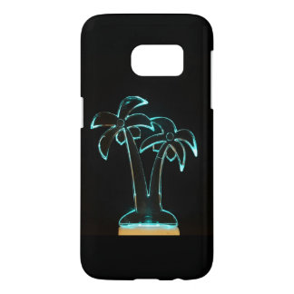 The Look of Neon Lit Up Tropical Palm Trees Samsung Galaxy S7 Case