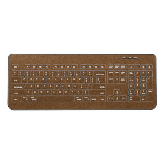 The look of Snuggly Coffee Brown Suede Texture Wireless Keyboard