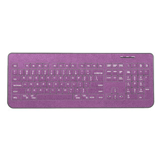 The look of Snuggly French Lilac Lavender Suede Wireless Keyboard