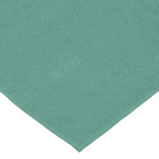 The look of Snuggly Jade Green Teal Suede Texture Short Table Runner