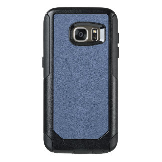 The look of Snuggly Slate Blue Suede Texture OtterBox Samsung Galaxy S7 Case