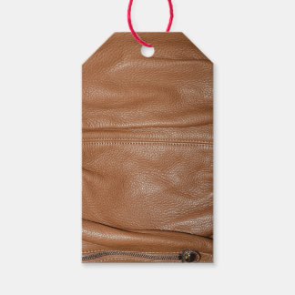 The Look of Soft Supple Brown Leather Grain Gift Tags