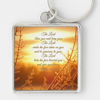 The Lord Bless You Numbers 6:24-26 Bible Verse Keychain